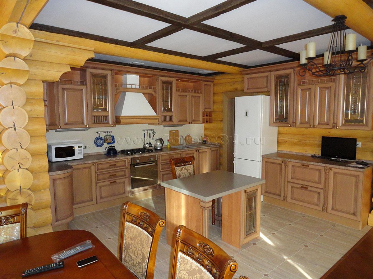 кухни в деревянном доме массив фото внешняя