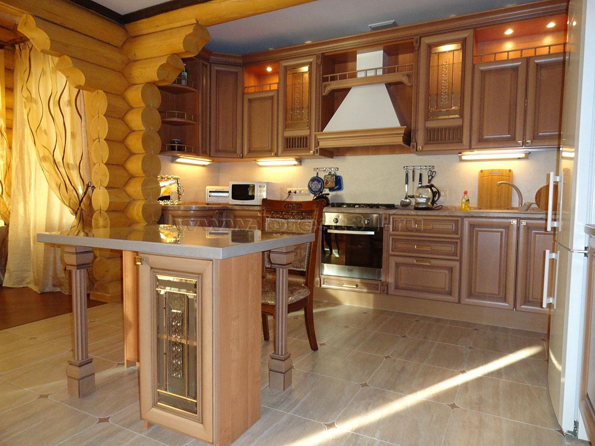 взгляд кухонные для деревянных домов фото механическими